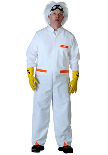 Plus Size Doc Brown BTTF 1 Fancy Dress Costume 2X (Doc Future Fancy To Back Dress The)