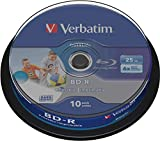 10 Verbatim DataLife BD-R Blu Ray Vergine 25GB printable stampabile