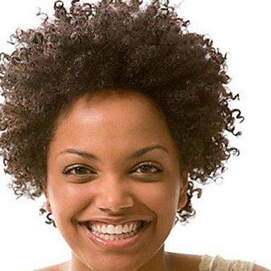 Fashion Kinky Afro Curly Natural Color 100% perruque brésilienne des cheveux humains Perruques avant en dentelle