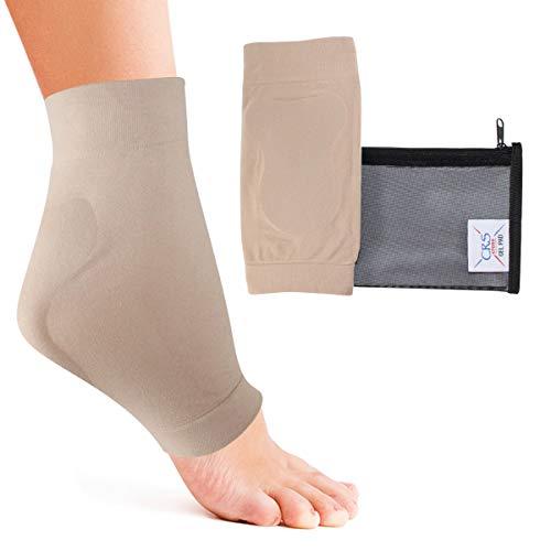 CRS Kreuz Achillesferse-Gepolsterte Kompression Gel Hülle/Socke für Kissen und Schutz der haglunds Bump, Sehnenentzündung, und Bursitis (2Ärmel mit Tasche)
