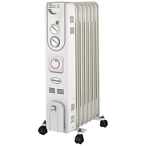 41IocdAJYsL. SS500  - Silentnight 7-Fin Oil Filled Radiator with Timer, 1500 Watt, 38140