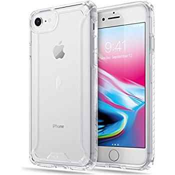 Poetic iPhone 7/iPhone 8 Case, Affinity Series Premium Thin/No Bulk/Clear/Dual material Protective Bumper Case for Apple iPhone 7/iPhone 8 (2017) Clear/Clear