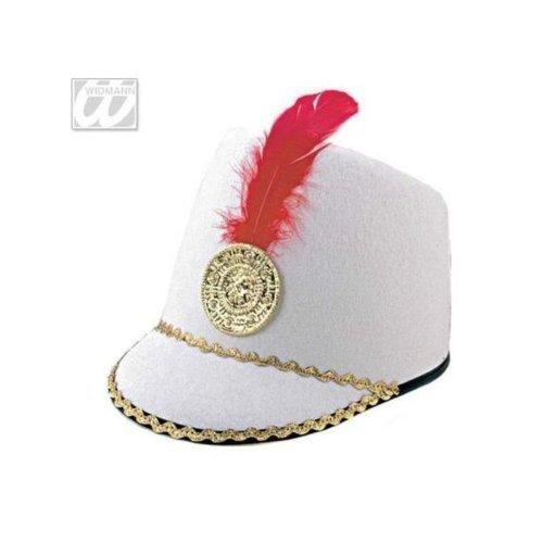 Sombrero majorette para niños en blanco