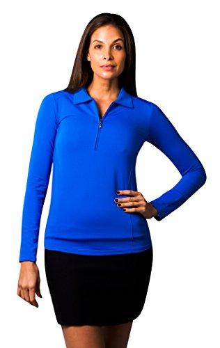 SanSoleil Damen SolTek Ice UV 50 Polo elektrisches blau groß (Ebene Elektrischer)