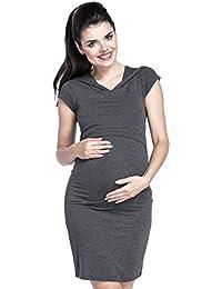 Zeta Ville - Premamá Vestido de lactancia efecto 2 en 1 capa - para mujer - 352c