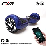CXM R2-Hoverboard UL 2272 Certified Self Balancing Electric Scooter 6.5 Inch for Adult and with LED Light and App, Blue