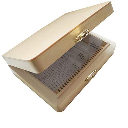 Hölzerner Hölzer, Aufbewahrungsbox, Box mit 26 Steckplätzen, Insektenspray, Schiebetasche, Lernwerkzeug -