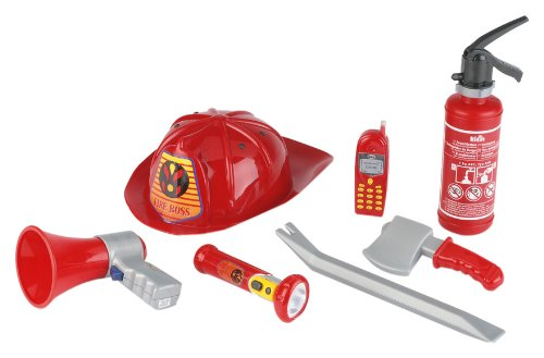 Theo Klein 8967 - Firefighter Henry Set Pompiere Con 7 Pezzi