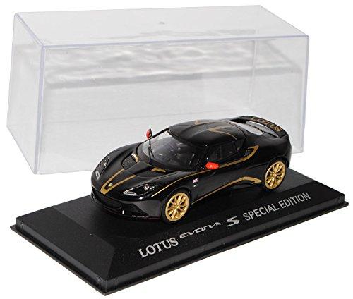 lotus-evora-s-special-edition-schwarz-mit-gold-ab-2009-1-43-vanguards-modell-auto