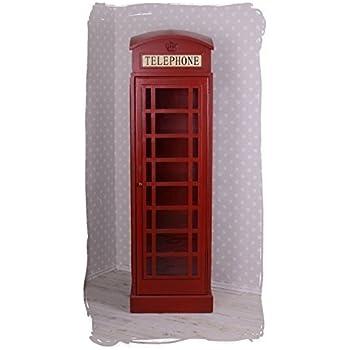 grosse vitrine englische telefonzelle rot schrank barschrank palazzo exclusiv k che. Black Bedroom Furniture Sets. Home Design Ideas