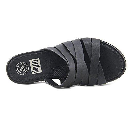 FITFLOP Lumy Leather Slide Sandale 2017 All Black All Black