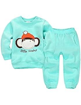 CuteOn Niñito Niños Bebes Chicos Chicas Invierno Chandal Pullover Camisa de entrenamiento Casual Top + Pantalones...