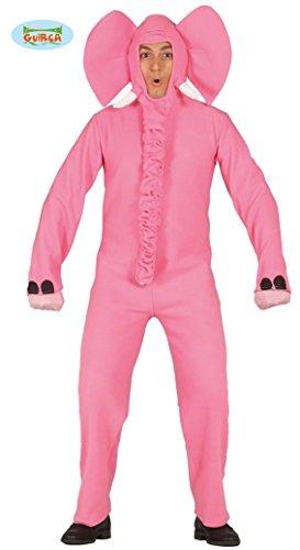 Rosa Elefant Kostüm Für Erwachsene - Elefanten Kostüm rosa für Erwachsene,