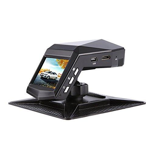 Auto Dash Cam Sony Sensor 1080P Full HD 140 Gran angular Dashboard Camera Pantalla de 2 'con 4 luces infrarrojas, monitor de estacionamiento, WDR, detección de movimiento, sensor G, grabación en bucle.