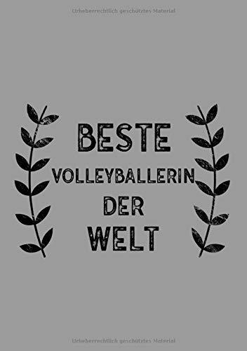 Beste Volleyballerin Der Welt: DIN A5 Notizbuch | 120 linierte Seiten | Überraschung oder Geschenkidee zu Weihnachten oder Geburtstag für eine Volleyballerin