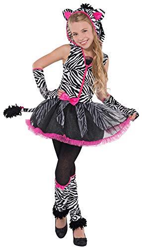 Zebra Kostüm für Kinder - 12 bis 14 - Zebra Kostüm Löwen