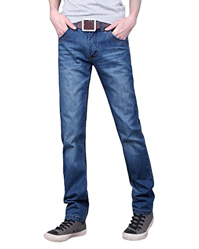 Herren Jeans Hose Basic Stretch Jeanshose Regular Slim Blau