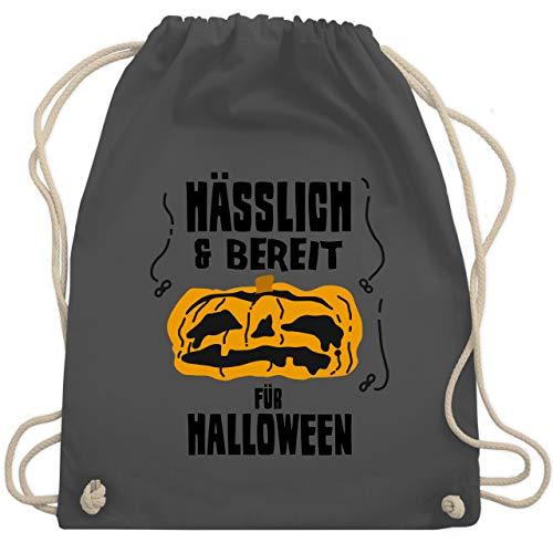 Halloween - Hässlich und bereit für Halloween - Unisize - Dunkelgrau - WM110 - Turnbeutel & Gym ()