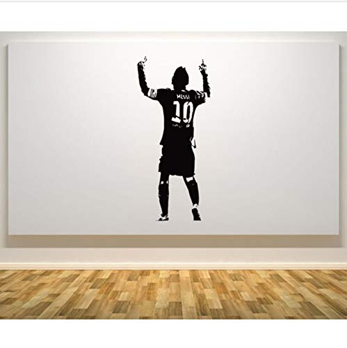 HLLCY Wandaufkleber Aufkleber Lionel Messi Barcelona Argentinien Fußballspieler Star Wandkunst Kinder Schlafzimmer Abnehmbare Wanddekor 42X92 cm