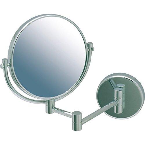 Miroir Salle de bain double face JVD vision normale et vision grossissante 3