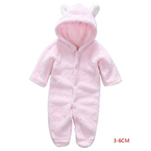 (Floridivy Korean Winter-Baby-Strampler Langarm mit Kapuze Overall-Säuglingskleinkind-Kleidung Overall Outfit)