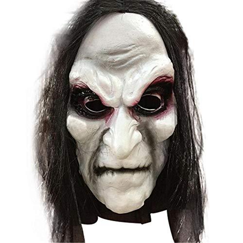 JIAENY Halloween Zombie Maske Ghost Festival Horror Maske Beängstigend Halloween Langes Haar Ghost Beängstigend Maske Cosplay - Beängstigend Weiblichen Kostüm