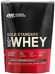 مسحوق بروتين مصل اللبن 100% جولد ستاندريشن، لون الشوكولاتة المزدوجة الغنية