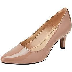 Clarks Isidora Faye, Zapatos de Tacón para Mujer, Beige (Nude Patent-), 37.5 EU