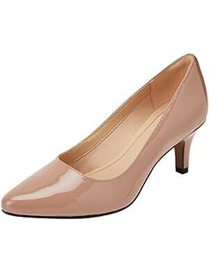 Zapato Clark de tacón color nude