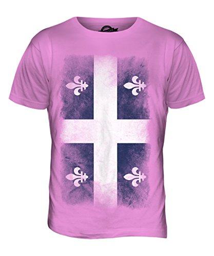 CandyMix Québec Verblichen Flagge Herren T Shirt Rosa