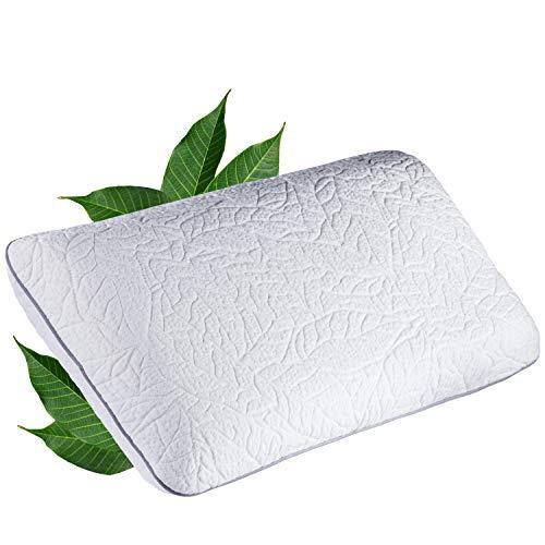 JONA SLEEP Kissen 40x80x14.5 cm Latex Kopfkissen Pillow 100% Naturlatex Öko Tex Nackenstützkissen Nackenkissen Fest Natur Bettwaren Seitenschläfer-geeignet Abnehmbarer Waschbarer Bezug (80 x 40 cm) -