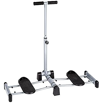 TecTake Leg exercise machine legs tighs bums tums home trainer | stable steel frame | foldable by TecTake
