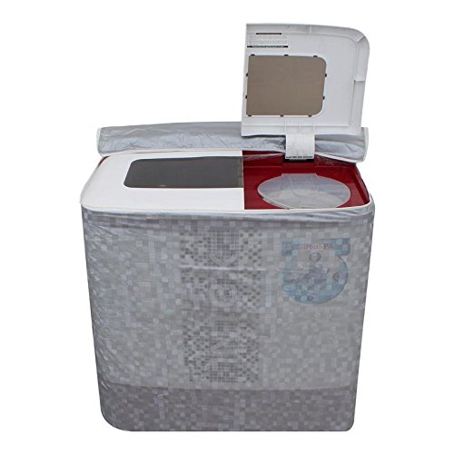 Dream Care Grey Colour with Square Design Washing Machine Cover for Fully Automatic Top Loading Whirlpool Stainwash Deep Clean 6.5, 6.2 KG  available at amazon for Rs.399