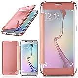 moex Samsung Galaxy S6 Edge | Hülle Transparent TPU Void Cover Dünne Schutzhülle Rosé-Gold Handyhülle für Samsung Galaxy S6 Edge Case Ultra-Slim Handy-Tasche mit Sicht-Fenster