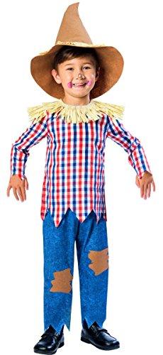 Kostüm Vogelscheuche Kinder - Christys Verkleidung Vogelscheuche Jungen Kostüm - Vogelscheuche Junge - 7-8 Years