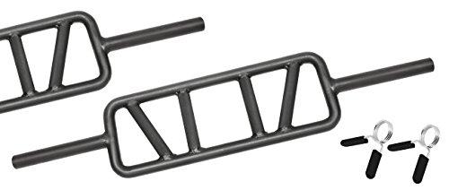 Bad Company BLK Trizep-Hantelstange/Rahmenhantel Black-oxid. inkl. Federverschlüssen 30/31 mm