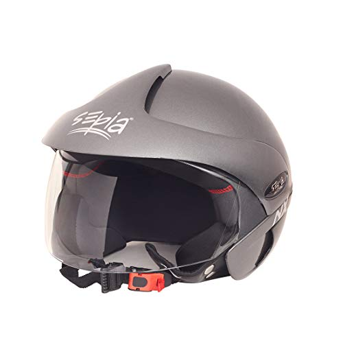 Sepia SHNX-GRY 04 NX Rider Open Face Helmet with Peak (Metallic Grey, M)