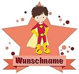 Samunshi® Superheld Jay Aufkleber mit Namen Autoaufkleber Namensaufkleber Kinder in 7 Größen (15x13,1cm Mehrfarbig)