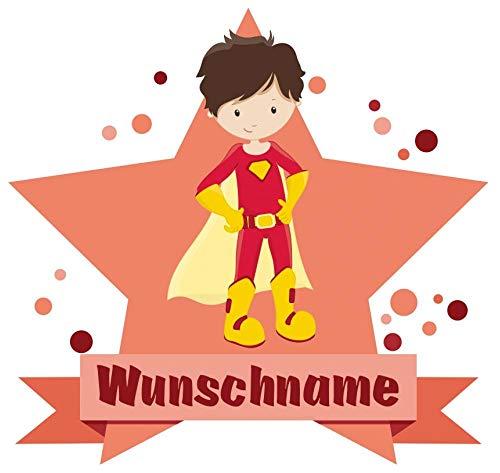 Samunshi® Superheld Jay Aufkleber mit Namen Autoaufkleber Namensaufkleber Kinder in 7 Größen (10x8,8cm Mehrfarbig)