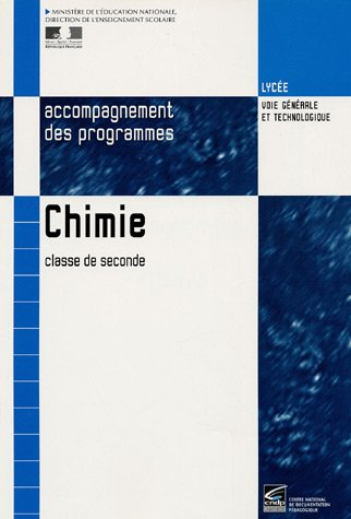 Chimie, 2nde : Document d'accompagnement