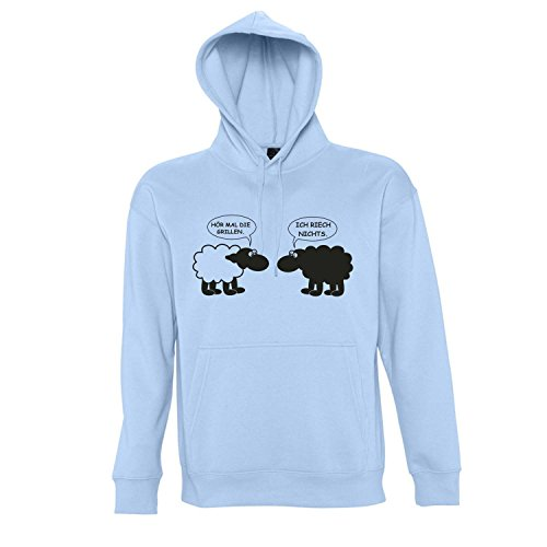 Blue Sky Grill (GRILL SCHAFE Das Saison Motivshirt - Kapuzen Sweatshirt - Pullover S-XXL , Sky blue - schwarz , XXL)