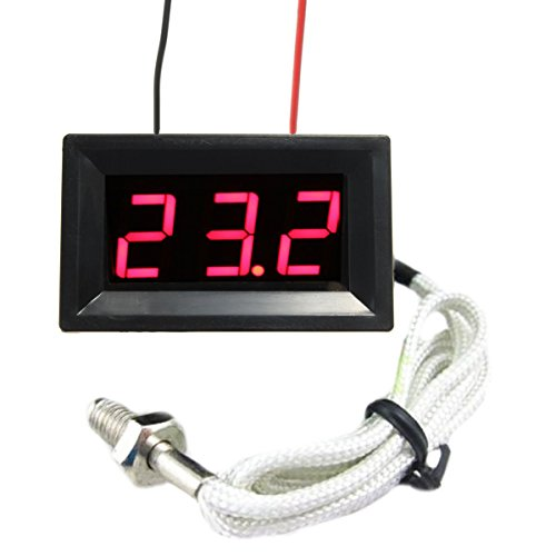 DyNamic Rote LED DC 12 V Digital Thermoelement Thermometer Temperatur meter 0~999 ° C mit Sonde