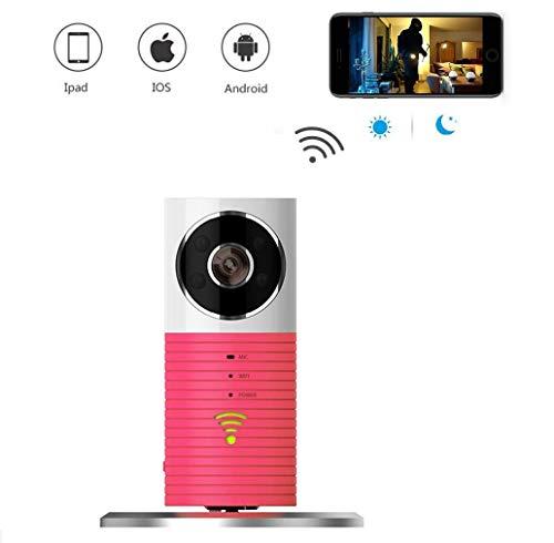 JKXT WiFi Überwachungskamera, Home Und Baby Monitor Mit, Zwei-Wege-Audio, Nachtsicht,Wireless WiFi Überwachung Kamera Kindermädchen-Kamera Mit Bewegungserkennung Für iPhone/Android Phone/,Pink Pink Iphone Alarm