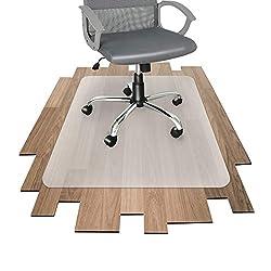 Office Marshal Bodenschutzmatte - 10 Größen zur Wahl - mit TÜV für Hartböden (90x120 cm)