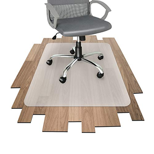 Floordirekt PP - 8 Größen zur Wahl - Budget Bodenschutzmatte semitransparent mit TÜV für Hartböden (120 cm x 130 cm)