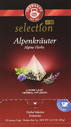 Teekanne Luxury Cup Alpenkräuter, 4er Pack (4 x 40 g) -