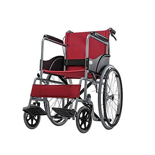 Rollstühle Feifei Haushaltsklappbares tragbares älteres kleines tragbares Reisewerkzeug - Funktion der vorderen und hinteren Doppelbremse