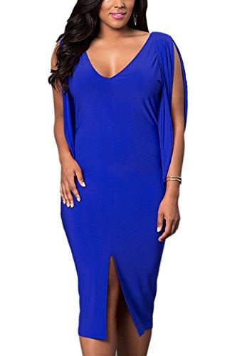 tamano-mas-frio-solido-raja-bodycon-vestido-de-las-mujeres-blue-3xl