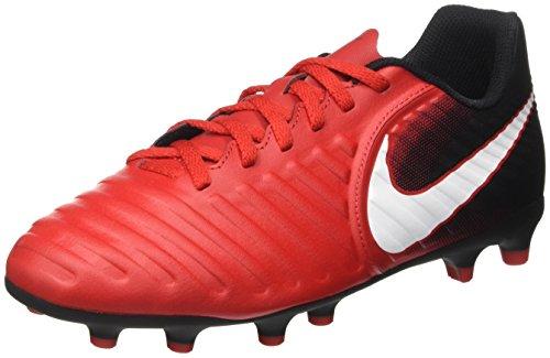 Nike Unisex-Kinder Jr Tiempo Rio IV FG Fußballschuhe, Mehrfarbig (University Redwhiteblack), 36.5 EU (Tiempo Rio)
