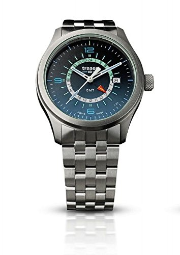 traser H3 Mens Watch P59 Aurora GMT Blue Steel 107036